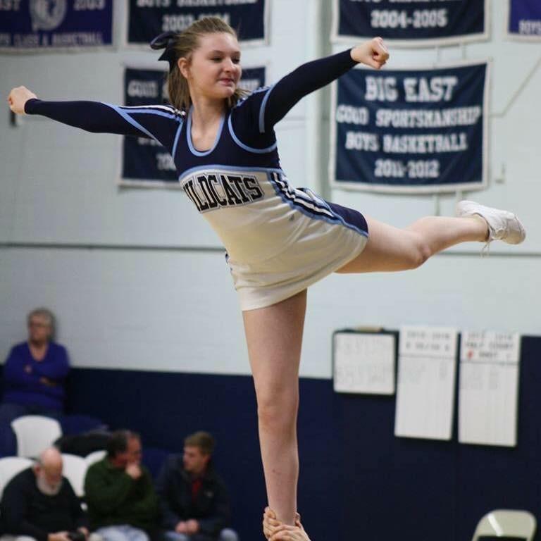 Jessie+Boucher+%2718+flys+in+her+new+uniform+sophomore+year.