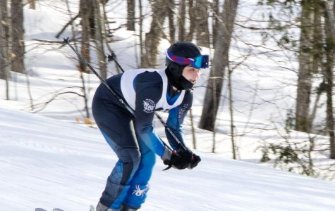 Alpine ski team member Alex Graves '20 finally has a chance to compete on the slopes with some agreeable weather.
