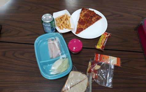 Five second lunch students pose their preferred midday meal.