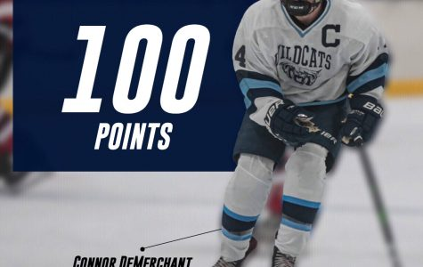 Demerchant joins former teammates Thomas Patenaude and Jake Stevens, as well as Assistant Coach Darren Carlisle in the 100 point club