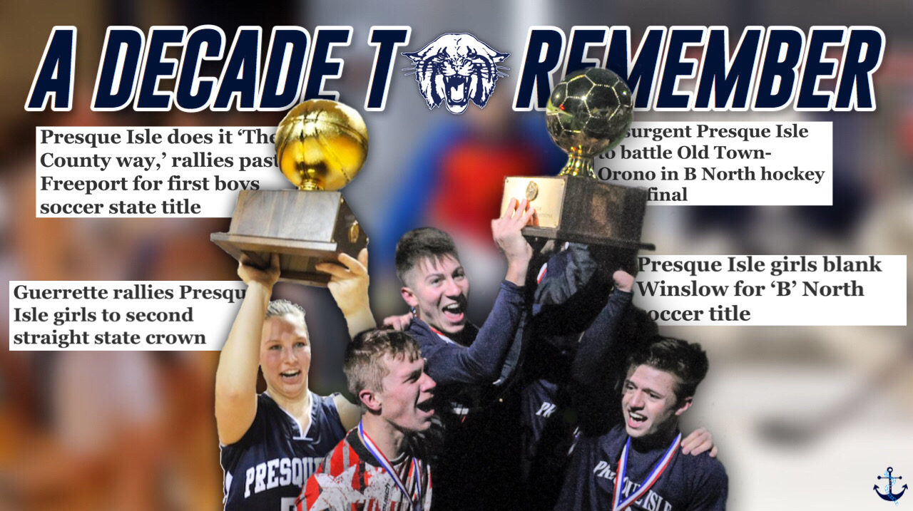 PIHS varsity athletes celebrate respective state championships over the last decade.