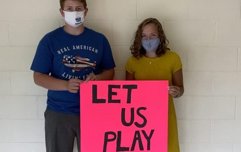 """Michael Langley '23 and Lindsey Himes '23 support Maine high school fall sports going forward, despite the pandemic. """"I hope we can at least stay in the County to play because that would be better than nothing,"""" said Himes."""