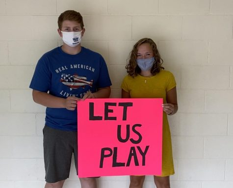 "Michael Langley '23 and Lindsey Himes '23 support Maine high school fall sports going forward, despite the pandemic. ""I hope we can at least stay in the County to play because that would be better than nothing,"" said Himes."