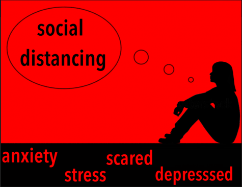 """Social distancing"" is a phrase that was started in order to keep people safe from the global COVID-19 pandemic.  This is affecting everyone's mental health, especially teenagers, as we now learn a new way of life."