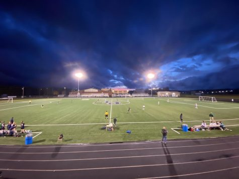 Presque Isle varsity girls soccer team kicks off against Fort Kent varsity girls on a brisk Tuesday night.