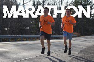 Cameron Levasseur and Jude Mosher during their November 7th marathon run.