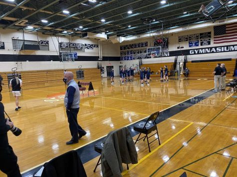 The gymnasium at Houlton High School ahead of Wednesday's varsity contest between the Shires and Presque Isle.