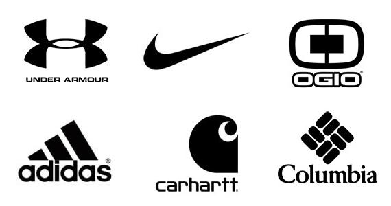 Some images of popular brand logos high schoolers wear